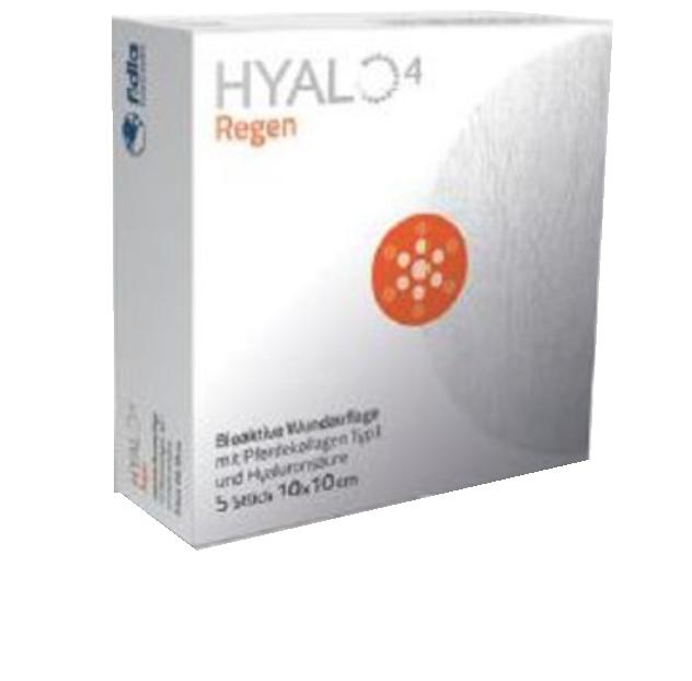 HYALO4 Regen Yara Örtüsü Ped ,hyaluronik asit ve heterojen tip 1 at kollajeninden oluşur. Sodyum Hyaluronat 2,5% At kollajeni 97.5%